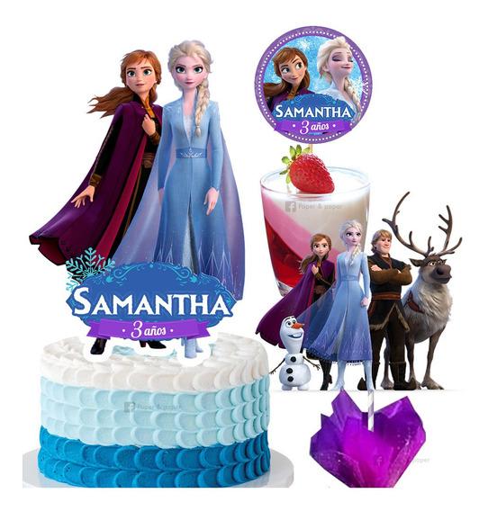 Mini Kit Imprimible Para Fiesta En Casa Frozen 2