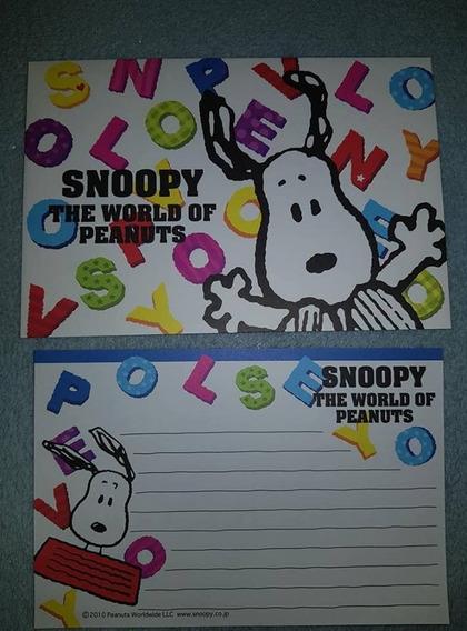 Lote Papel De Carta Snoopy - 37 Itens