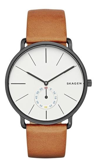 Reloj Caballero Skagen Hagen Skw6216 Color Café De Piel