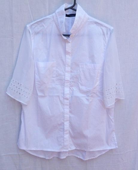 Camisa Con Mangas De Encaje