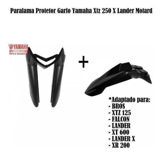 Paralama Lander X Xtz 125 + Protetor De Bengala Original