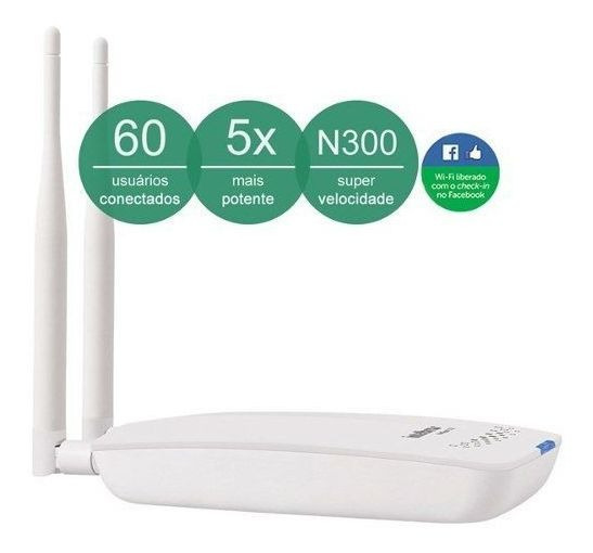 Roteador Wifi 500mw Hotspot 300 2.0 Checkin Intelbras Nfe