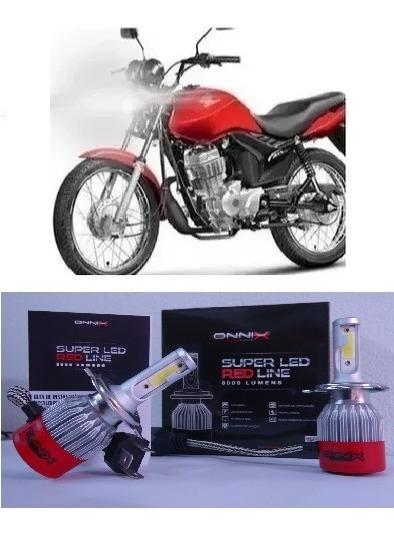 Lampada H4 Super Led Farol Moto Honda Cg 150 Fan E Titan Top
