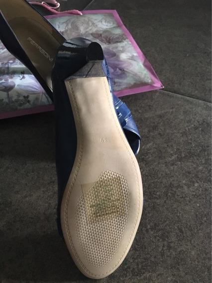 Zapatos Ferradini Nuevos Talla 39 Color Azul Marino