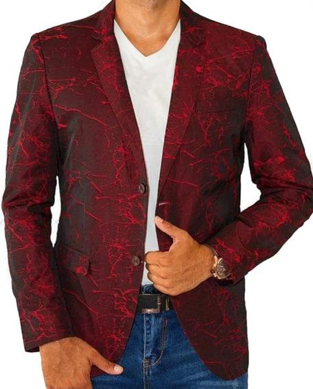 Saco Hombre Premium Marca Moderno Mjb 904 Red/negro