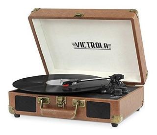 Victrola Vsc-550bt Brown Tornamesa Parlante Bluetooth 3veloc
