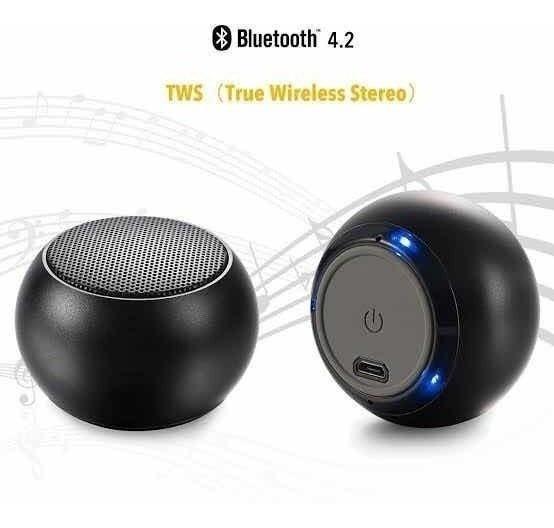 Mini Caixa Som Bluetooth S/ Fio Altomex Stereo Al-3031 Preta