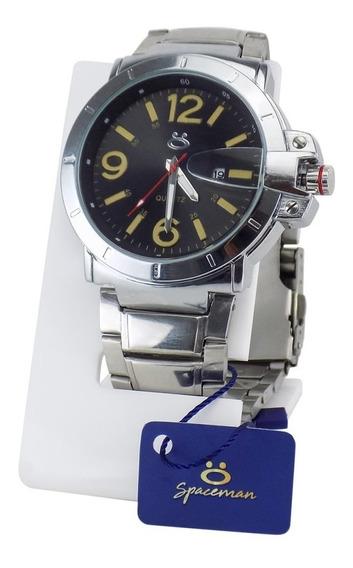 Relógio Masculino Original Luxo De Pulso Aço Garantia