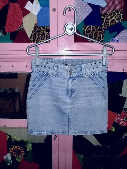 Mini Saia Jeans Claro