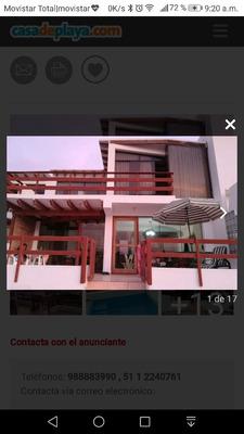 Casa Playa Puerto Fiel Terrazas Piscina Parrilla Semama Sant