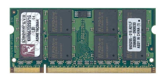 Memória Ram P/ Notebook Kingston Ddr2 1gb 667mhz