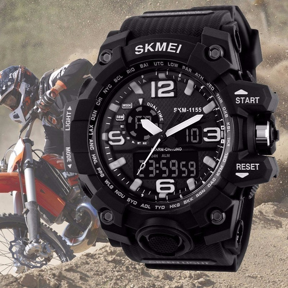 Relógio Masculino Esportivo Casual Funcional Militar Digital