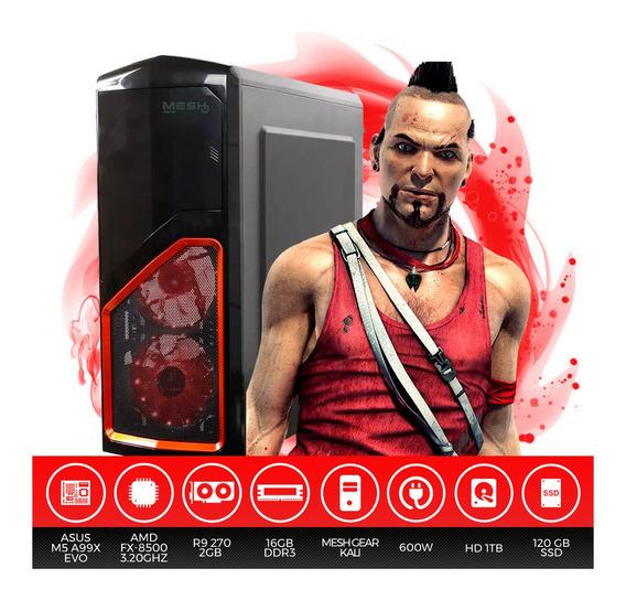 Pc Gamer Amd Fx-8500, 16gb Ram, Hd 1tb + Ssd 120gb, R9 270