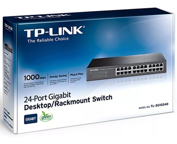 Switch Gigabit Tp-link 24 Port 10/100/1000 Rack Tl-sg1024d