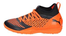 Zapatos Futbolito Hombre Puma Future 2-3 Netfit Naranjonegro
