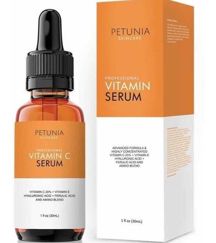 Vitamina C Con Ácido Hialurónico 30ml Petunia Original