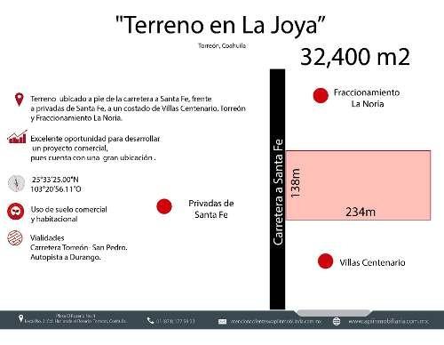 Terreno En Venta En Carretera A Santa Fe En Torreón