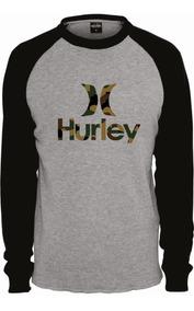 Camiseta Raglan Manga Longa Hurley Camisa Envio Imediato