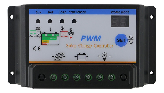 Controlador De Carga Solar - 12v 24v 30a