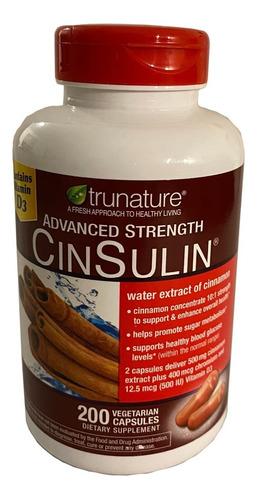 Canela Cinsulin Cinnamon Picolinato Cromo Trunature 170 Caps