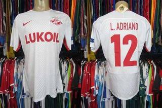Spartak Moscou 2017 Camisa Reserva Tamanho G # 12 L. Adriano