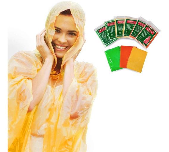 Poncho Impermeable Con Capucha Para Lluvia Siempre Preparado