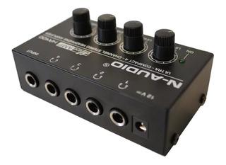 Amplificador De Auriculares Naudio Ha400 4 Ch Stereo