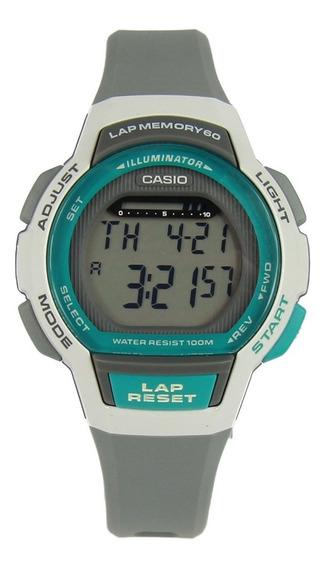 Relógio Feminino Casio Digital Lws-1000h-8avdf -branco/cinza