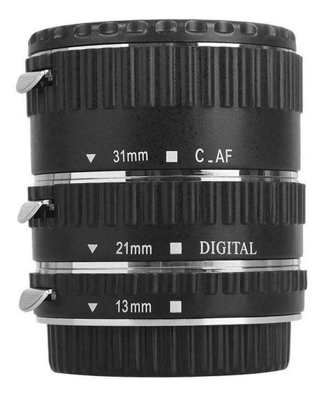Tubo Extensor P/ Macro Fotografia Auto Foco Câmera Canon