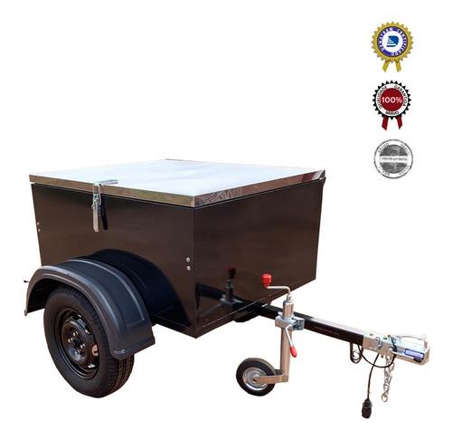 Carreta Reboque Baú Box Com Tampa - Bravo Carretas