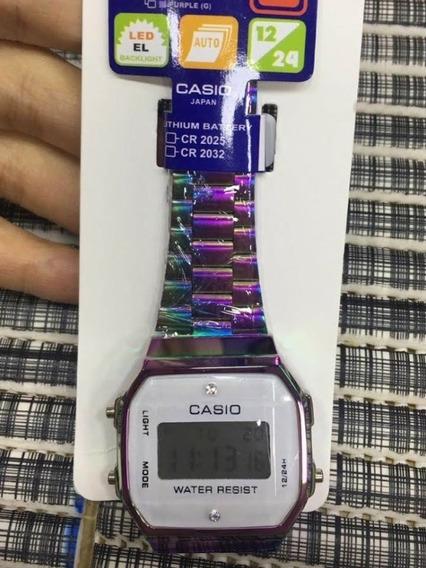 Relógio Casio Vintage Dimonds Unissex Luz De Led Alarme