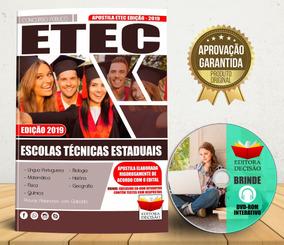 Etec 2019 - Escolas Técnicas Estaduais - Atualizada