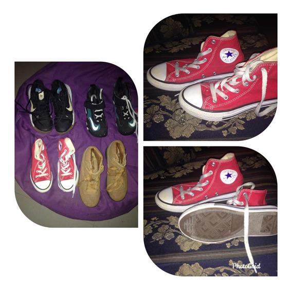 Zapatos De Niño Nike Y Converse. Y Fila Originales