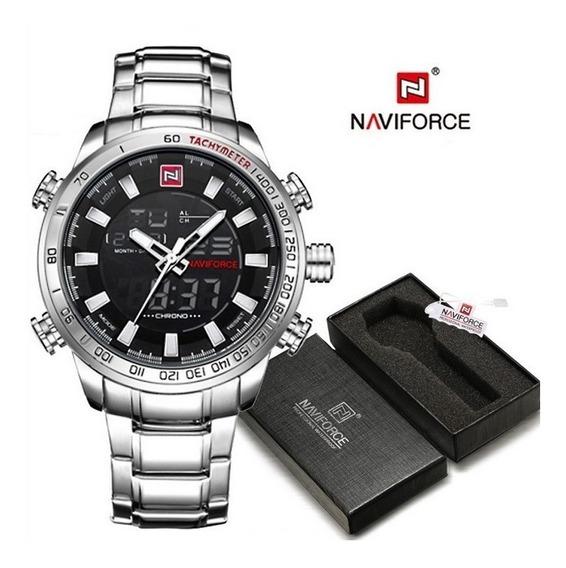 Relógio Naviforce 9093, Original, Aço Inoxidável, Na Caixa