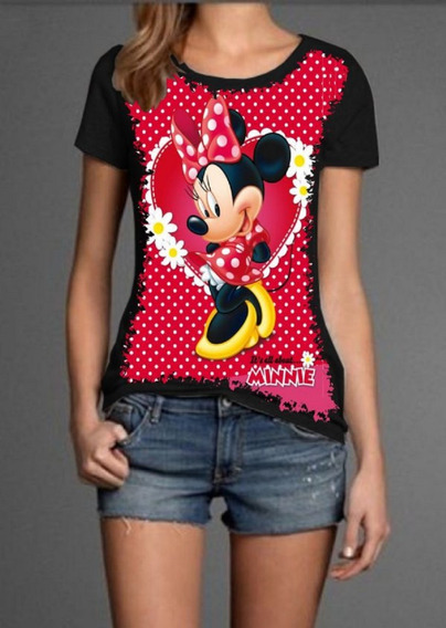 Blusa Babylook Legal Minnie Mouse