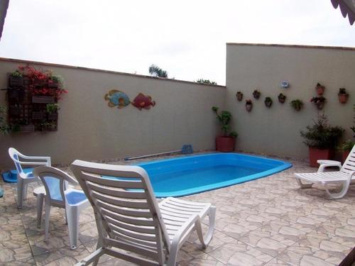 Imagem 1 de 21 de Casa Com Piscina, 3 Quartos Sendo 1 Suíte, 1 Vaga De Garagem No Coroados Em Guaratuba/pr - Imobiliária África - Ca0055 - 4710103