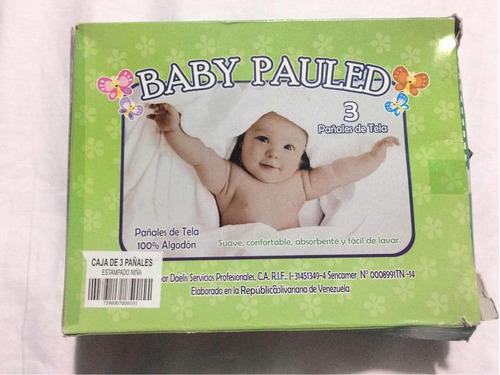 Combo Kit De Pañales De Tela Para Bebés Niñas Baby Pauled