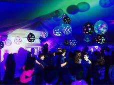 Alquiler Luz Uv Negra Para Fiestas Neon Disco Movil Karaoke