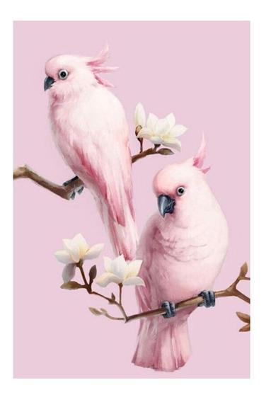 Rosa Papagaios 5d Diamante Pintura Bordado Diy Cross Stitch