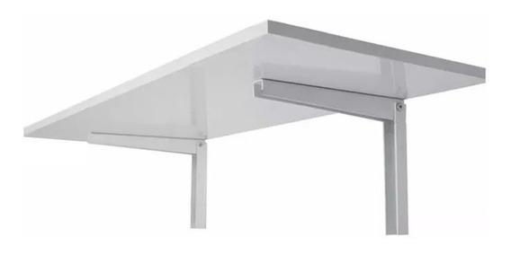 Mesa De Parede Dobrável Branca 40x90cm - Capacidade 50kg