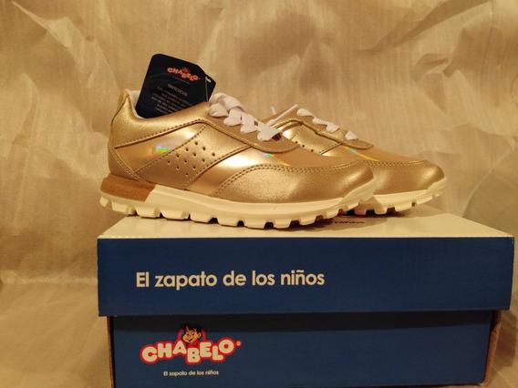 Tenis Chabelo Dorados No.18 Cm Originales