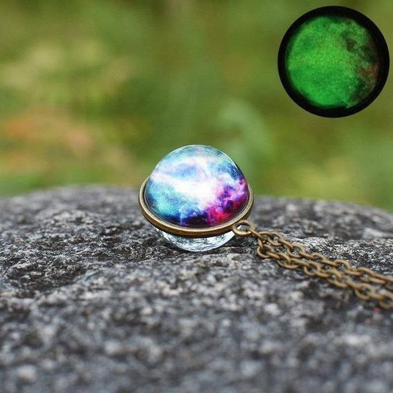 Collar Con Diseño Tipo Cupula De Cristal Jupiter O Nebulosa