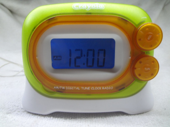 Radio Reloj Despertador Digital Am Fm Crayola Grabador Voz