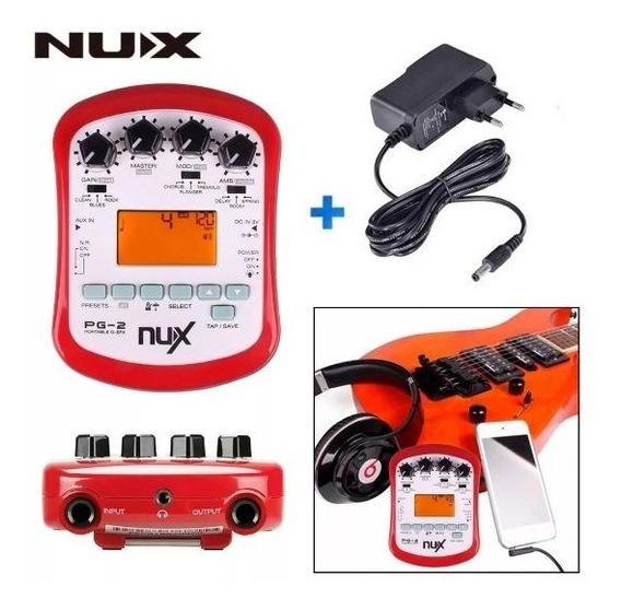 Efeitos P Guitarra Processador - Pedaleira Nux Pg2 Portátil
