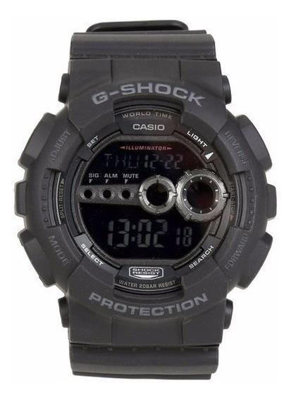 Relógio Casio Masculino G-shock Gd-100 1bdr Negativo Oferta