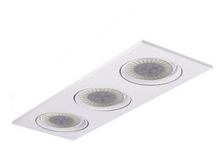 Spot Embutir Ar111 Cardanico 3 Luces Blanco Lamp Led 36w