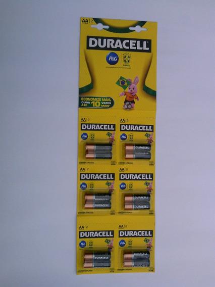 Pilha Duracel Pequena Carela C/12 Unidade ( Aa )
