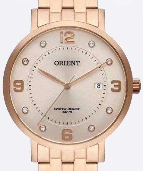 Relogio Orient Feminino Rose Gold - Frss1042 R2rx