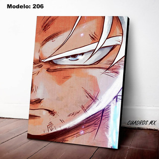 Cuadro Decorativo Goku Dragon Ball Canvas Textura