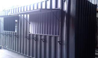 Loja Trailer Container Guarita Obra Banheiro